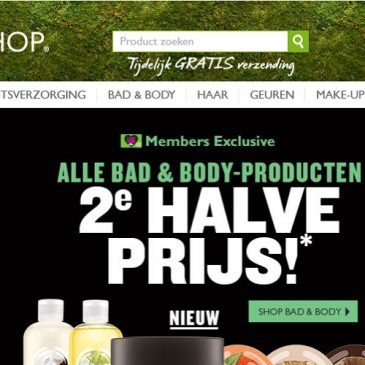 Actie The Body Shop tot 35% korting