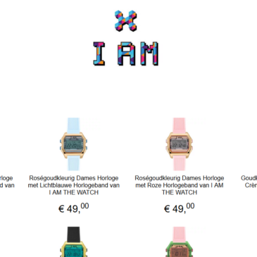 10% korting op alle horloges van I AM THE WATCH bij It's Beautiful